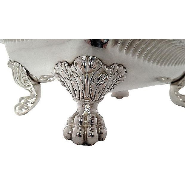 Silver-Plated Lion Footed Catchall - Image 5 of 7