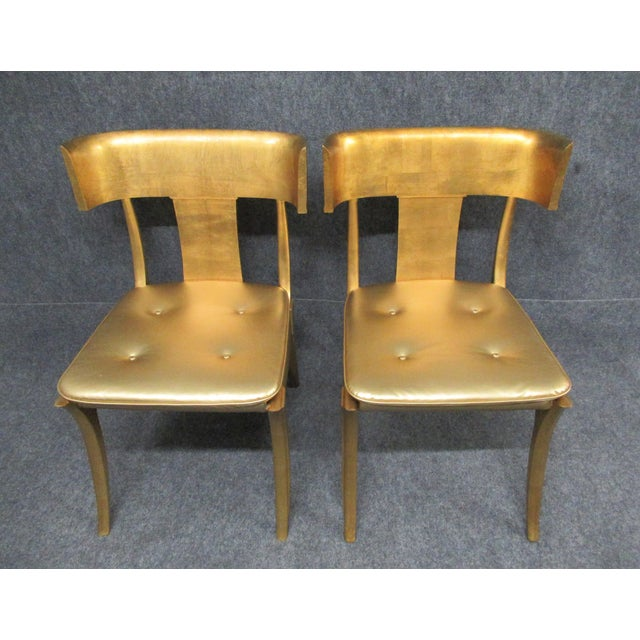 Wood Vintage Mid-Century Modern Klismos Chairs- a Pair For Sale - Image 7 of 13