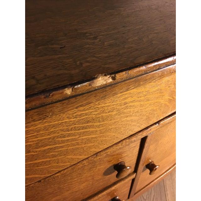 Vintage Oak Cabinet Credenza - Image 4 of 10