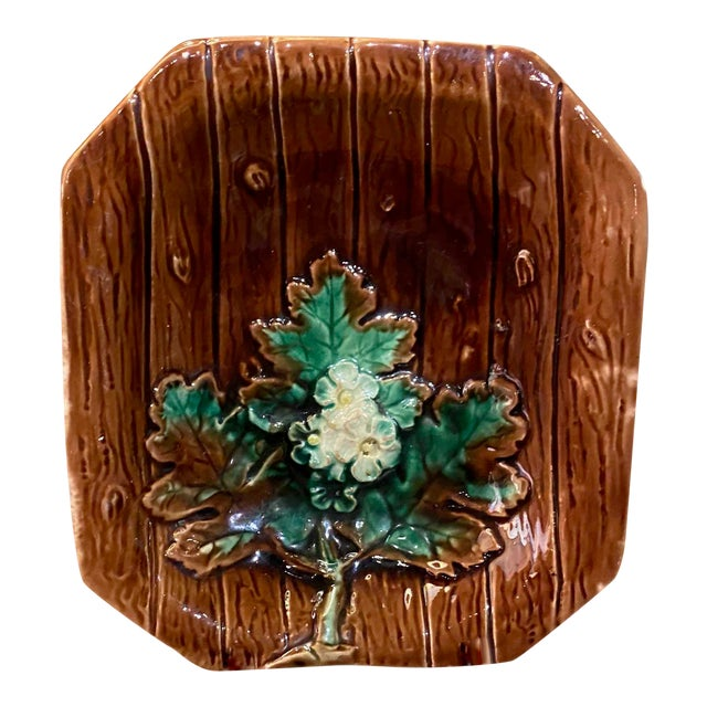 Majolica French Porcelain Catchall Dish For Sale