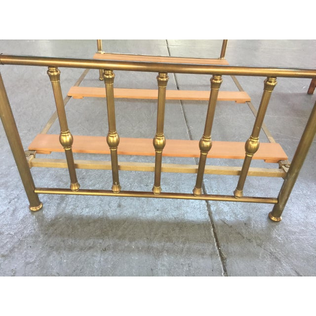 Traditional Antique Full Size Brass Bed For Sale - Image 3 of 12