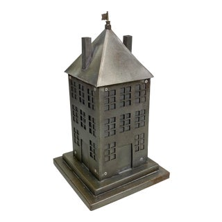 Bench-Made Metal Building Lidded Box For Sale