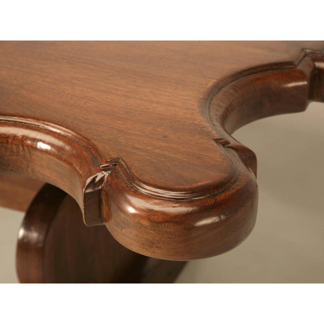 2010s Italian Farm Table Made from Huge Planks of Solid Mahogany For Sale - Image 5 of 10
