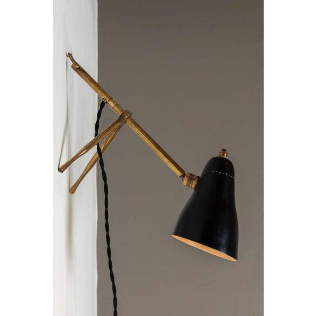 "1950s Giuseppe Ostuni ""Ochetta"" Wall or Table Lamp for O-Luce For Sale - Image 10 of 13"