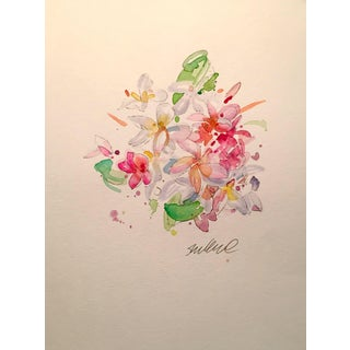 Tropical Floral Watercolor Painting For Sale