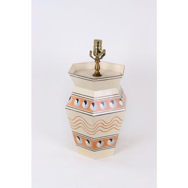 Americana Modern Hexagonal Urn Lamp For Sale - Image 3 of 4