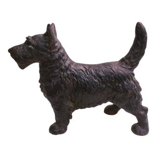 Vintage 1920's Cast Iron Scottie Doorstop For Sale