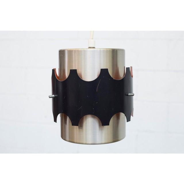 Hoogersvort Style Spun Aluminum & Black Cylinder Pendants - Set of 3 - Image 4 of 6