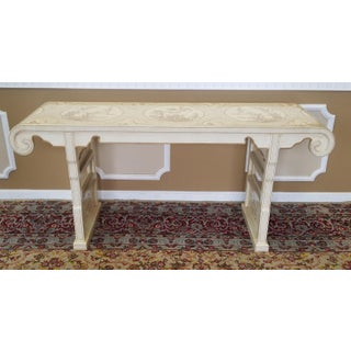 1980s Drexel Heritage White Asian Ming Alter Console Table Preview