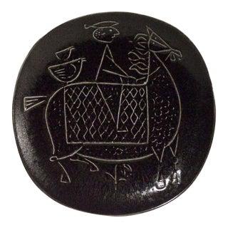 1960s Stig Lindberg Earthenware Plate