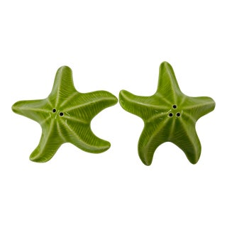 Late 20th Century Starfish Shaped Salt & Pepper Shakers - a Pair For Sale