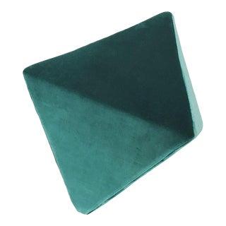 Modern Design Pierre Atelier Emerald Velvet Ottoman For Sale