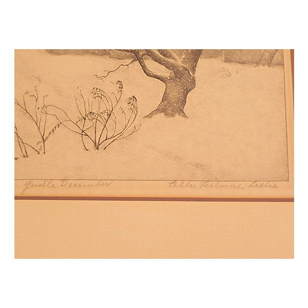 Early American Gentle December Lithograph by Ella Fillmore For Sale - Image 3 of 4