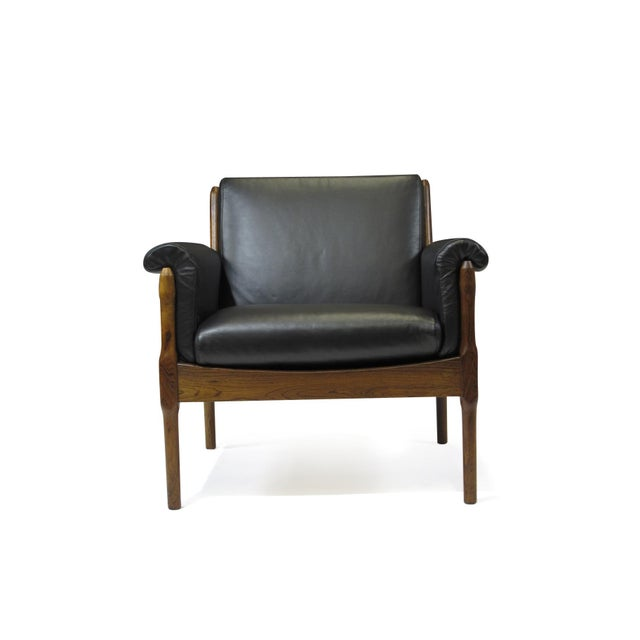 Torbjørn Afdal Rosewood Lounge Chairs - a Pair For Sale - Image 11 of 12