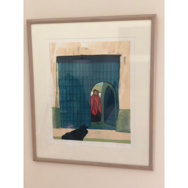 Paper Vintage Mid-Century Signed Gilberto Almeida Print For Sale - Image 7 of 7