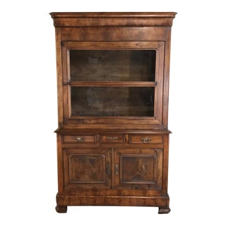 19th Century Louis Philippe Period Walnut Bookcase For Sale
