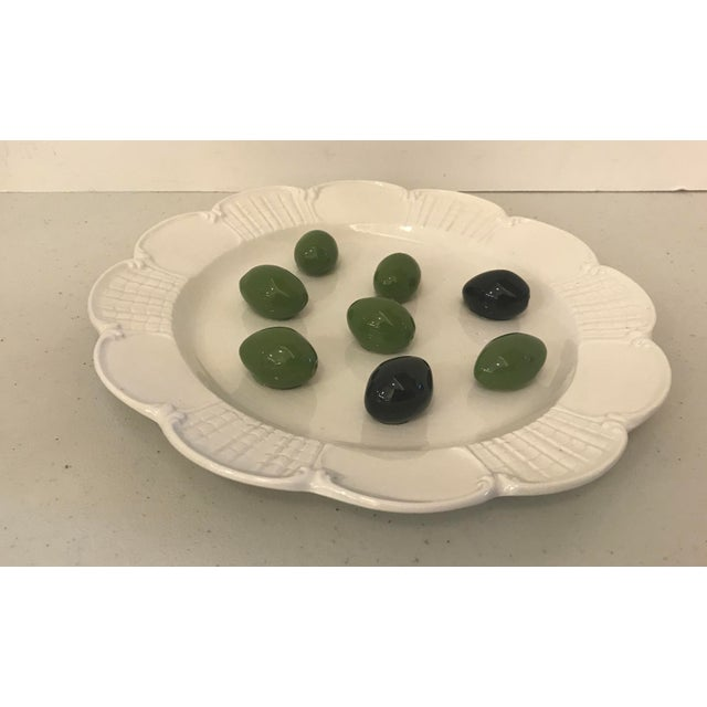 Mid 20th Century Italian Este Trompe L'Oeil Olive Plate For Sale - Image 5 of 10
