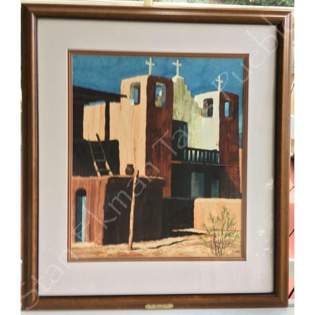 Rare Stanley Ekman the Taos Pueblos Original Watercolor - Image 8 of 11