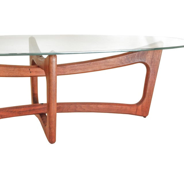 Glass Adrian Pearsall Coffee Table For Sale - Image 7 of 8