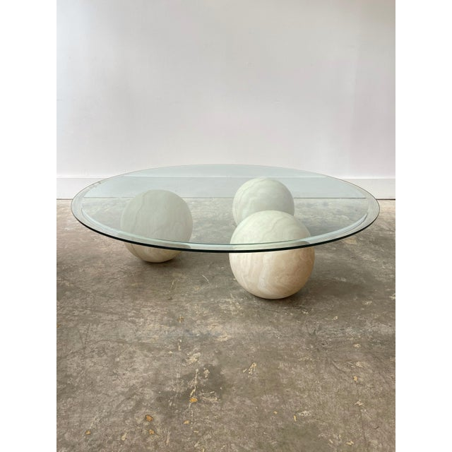 Memphis Style Marble and Glass Top Coffee Table For Sale - Image 13 of 13