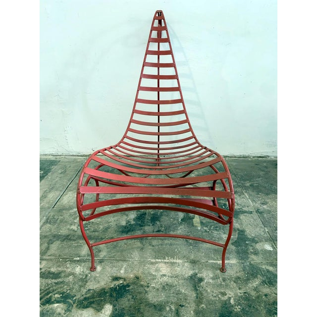 Iron Spine Chair Attributed to Andre Dubreuil For Sale In Los Angeles - Image 6 of 11