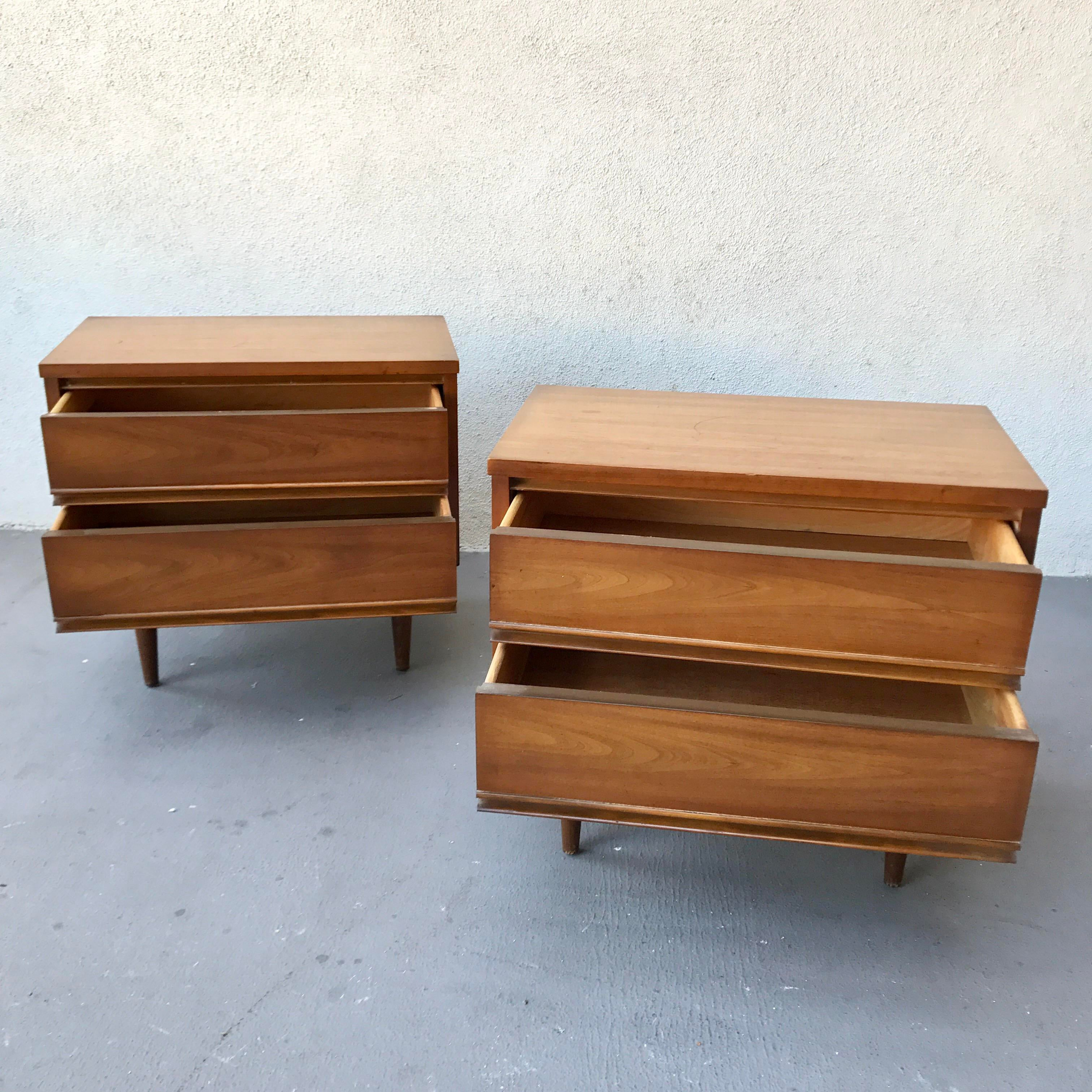 mid century modern bedside table. Mid-Century Modern Harmony House Bedside Tables - A Pair For Mid Century Table ,