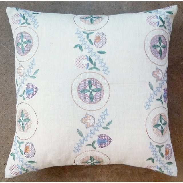 Countryside Embroidered Pillow - Image 2 of 3