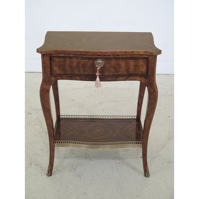 Theodore Alexander French Louis XV Mahogany Nightstand For Sale - Image 13 of 13