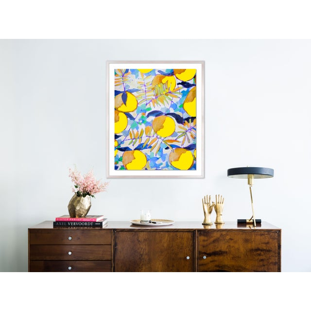 Peaches and Cream 1 by Lulu DK in White Wash Framed Paper, Medium Art Print Overall Size: 30x36. Image Size: 25x31....