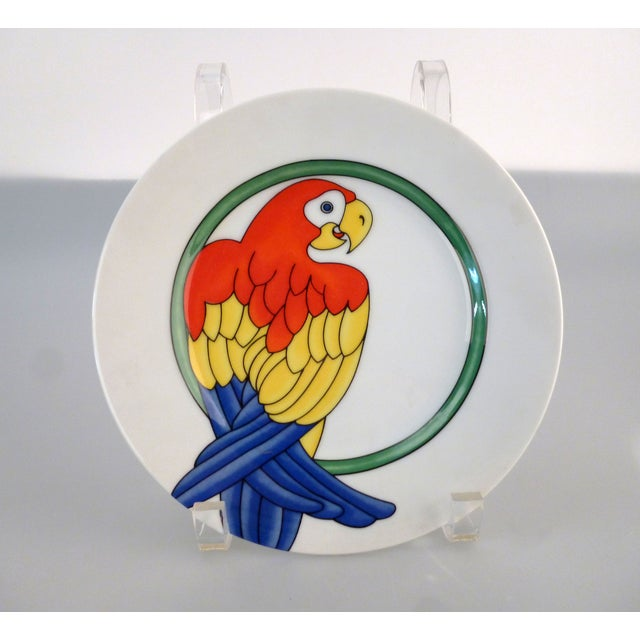 Boho Chic Fritz and Floyd Parrot in Ring Plates - 8 For Sale - Image 3 of 6