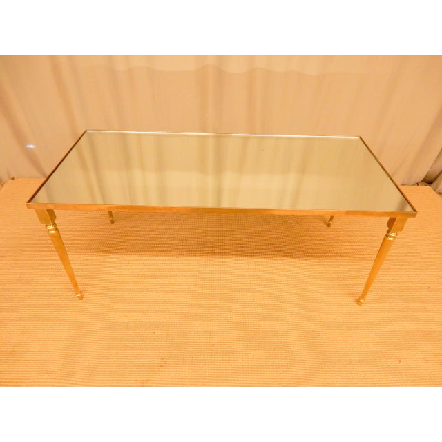Mid-Century Modern Classical Mirrored Top Mid-Century Modern Coffee Table For Sale - Image 3 of 6