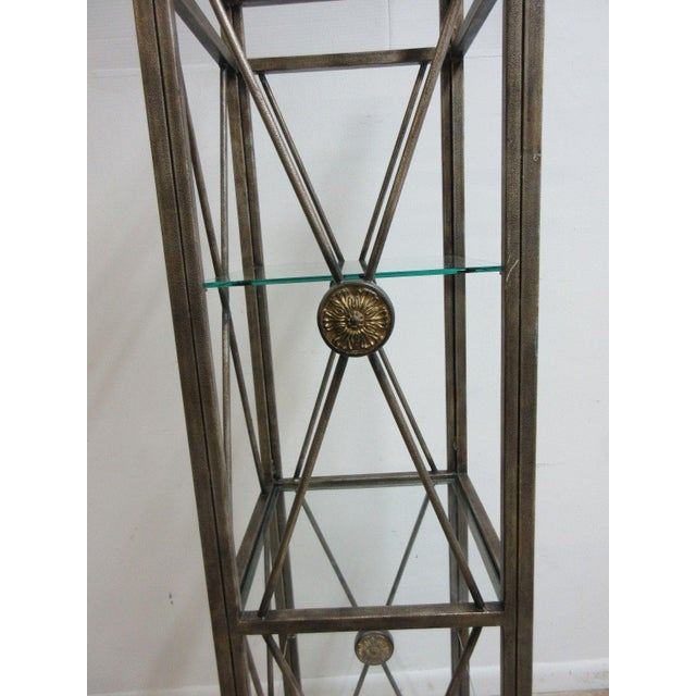Metal Maitland Smith Metal French Regency Etagere Shelf For Sale - Image 7 of 10