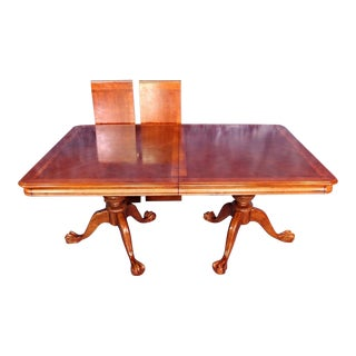 Double Pedestal Extension Claw Foot Dining Table