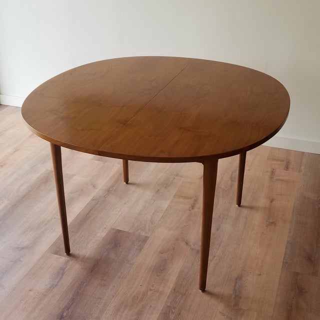 1963 Drexel Declaration Mid-Century Modern Walnut Dining Table For Sale - Image 13 of 13