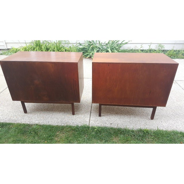 Milo Baughman for Arch Gordon Walnut Cabinets - A Pair - Image 8 of 11