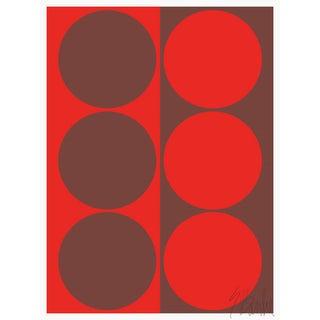 """Dynamic Pair Red"" Fine Art Print 21 1/4"" X 30"" by Liz Roache For Sale"