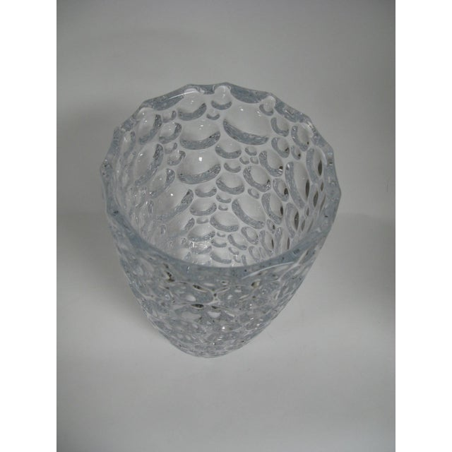 """Czech Vase Bubble Thumbprint Bohemia Glass Large 14"""" A Thumbprint or Bubble Pattern Measures Approx. 14 Inches Tall And is..."""