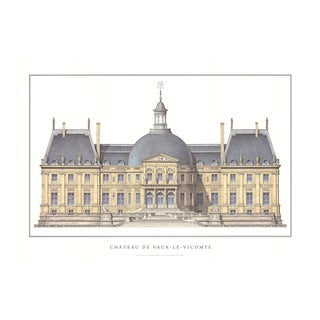 Chateau De Vaux-Le-Vicomte, Offset Lithograph For Sale
