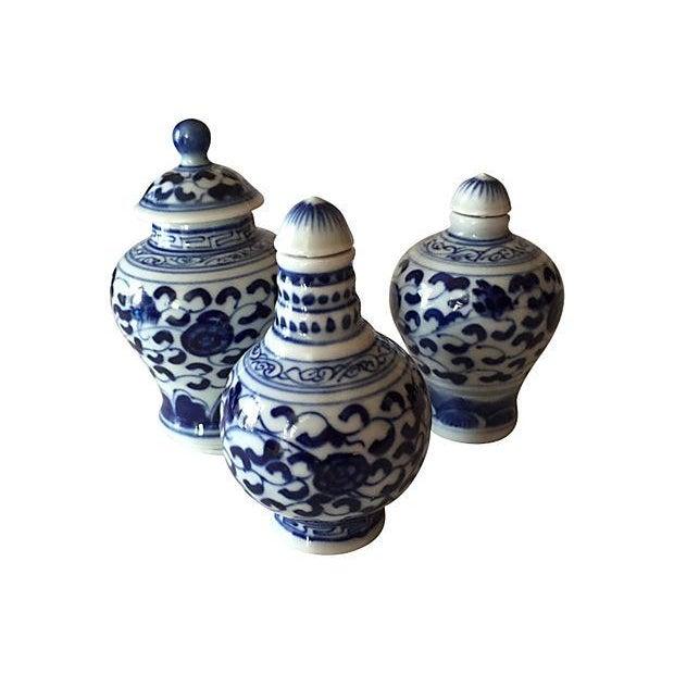 Chinese Blue & White Porcelain Bottles - Set of 3 - Image 1 of 5