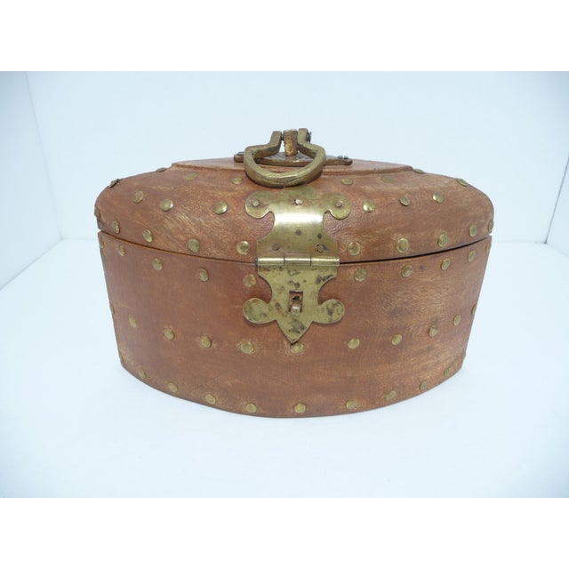 Rustic Wooden Box With Brass Accents - Image 2 of 7