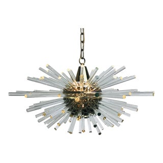 Bakalowitz 'Miracle' Sputnik Crystal Glass and Brass Chandelier For Sale