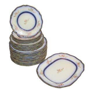 Vintage French Faience Dinnerware - 26 Pieces For Sale