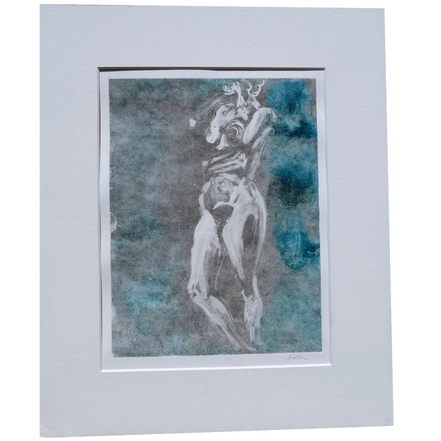 Soft Green Nude Monotype - Image 1 of 6