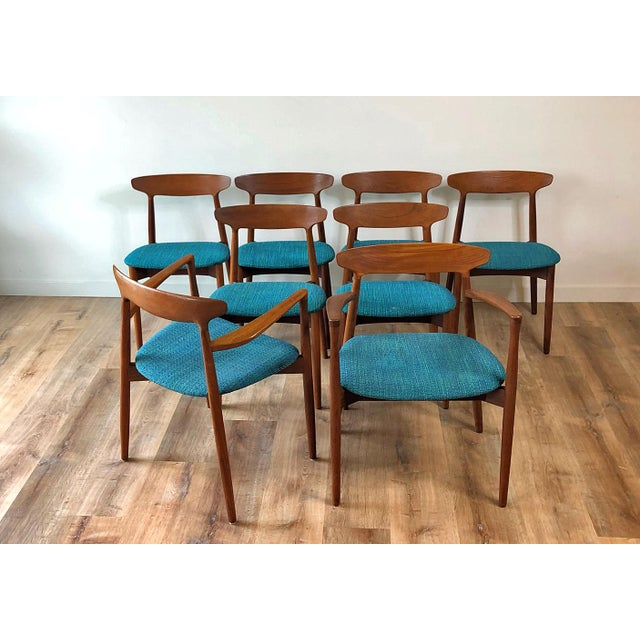 1960s Harry Østergaard for Randers Møbelfabrik Dining Chairs - Set of 8 For Sale - Image 13 of 13