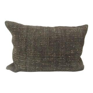 Handmade Turkish Kilim Brown Pillow Cover For Sale
