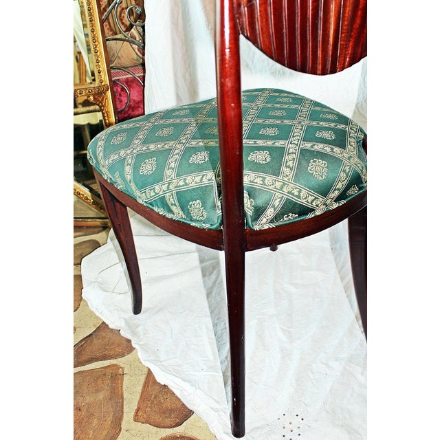 Fabric Scallop-Carved Side Chair For Sale - Image 7 of 7