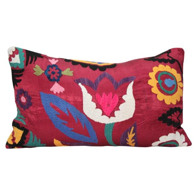 Tulip Suzani Pillow - Image 1 of 3