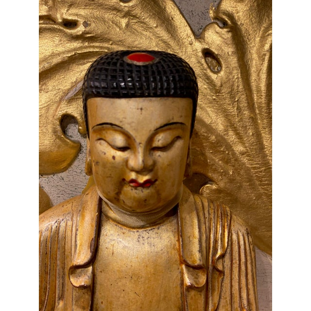 19th Century Chinese Qing Dynasty Carved Buddha For Sale In Dallas - Image 6 of 8