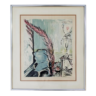 Framed Colored Lithograph Signed by Sarah Churchill 67/300 For Sale