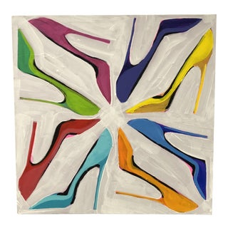 Megan Coonelly Shoe Circle Painting